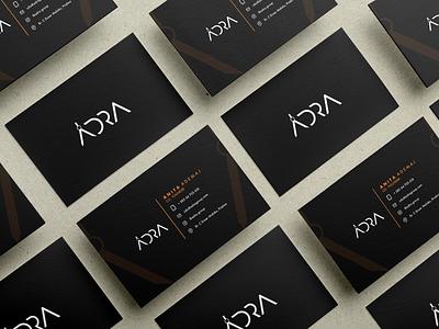 A D R A  -  business cards behance project behance portfolio logo design figma design figma branding mockup design mockup psd branding design brand identity business card design business cards