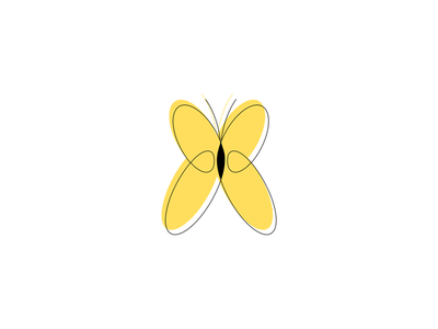 Butterfly Icon outline icons outline icon outline personal brand branding design brand identity portfolio yellow icon yellow butterfly illustration butterfly figma design figma outlined one line iconography icons icon
