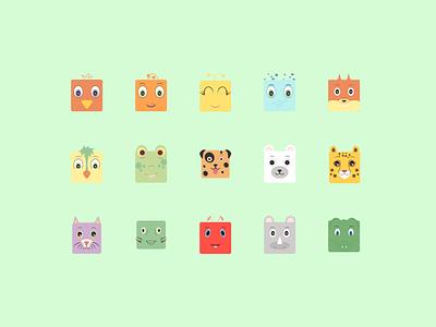 DJUR - ANIMALS behance swedish alphabet animal illustration animals illustrations illustration portfolio figma design figma flat icons color palette colors icon illustration icons pack icons icon
