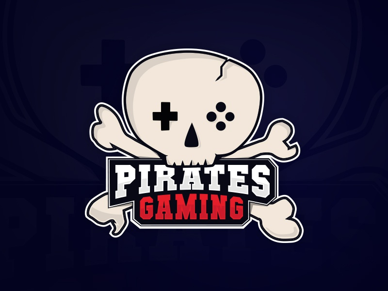Logo for pirates gaming