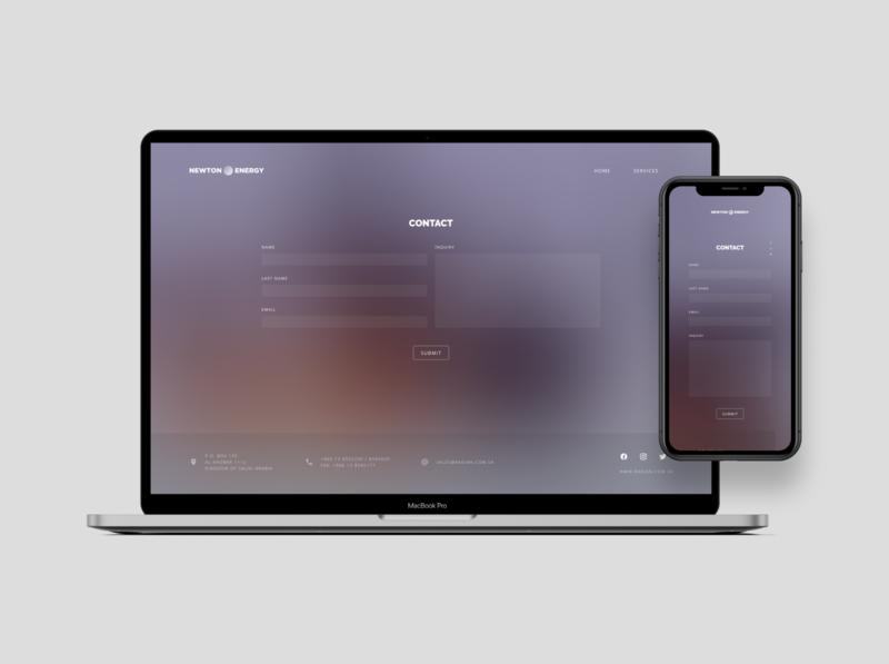 Oil Company Landing Page web landing responsive minimal flat figma ux ui design