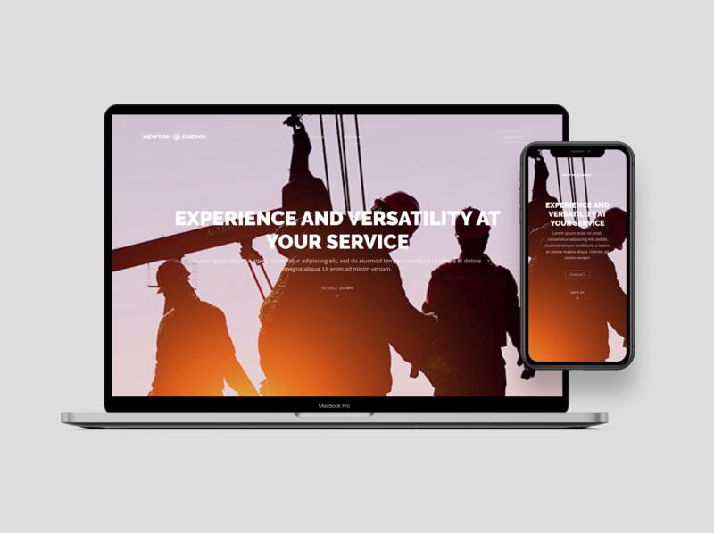 Oil Company Landing Page typography landing responsive minimal flat figma ux ui design