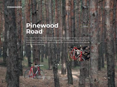 Crosscountry landing page landing flat minimal website web design logo ux typography ui