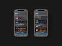 News Feed App Dark Design Free Download