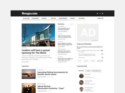 Nooga News ux website media news ui