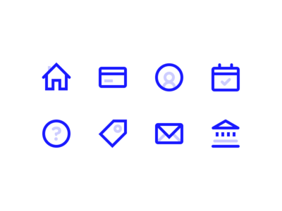 Payment Icons minimal payment bank glyphs icons ui illustration
