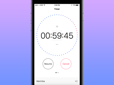 Timer App ux apple mobile iphone minimal 3d touch ui ios app timer