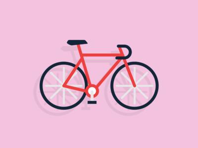 Bicycle bike minimal illustration bicycle