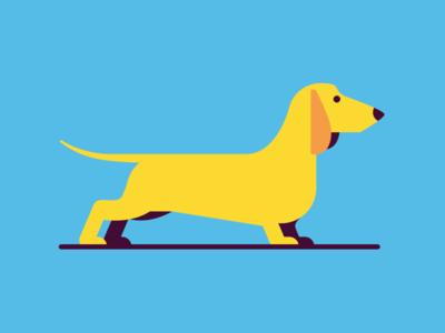 Wiener wiener dachshund minimal illustration dog
