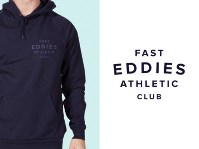 Fast Eddies branding minimal sports logo print gym