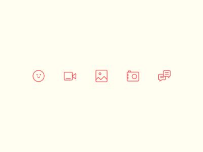 Social Icons minimal camera illustration ui glyphs icons app social