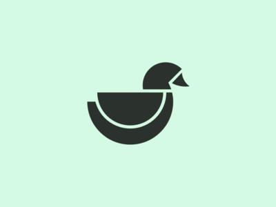 Duck logo bird minimal illustration duck