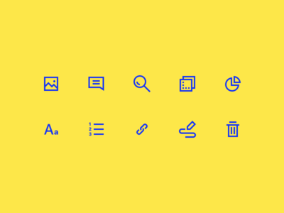 Editor Icons minimal ui illustration icons glyphs editor text app