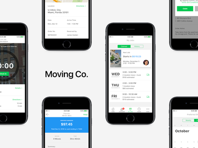 Moving Co. ux apple mobile ui moving iphone ios app