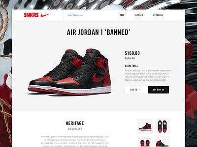 Air Jordan nba ux redesign website sports basketball ui minimal nike