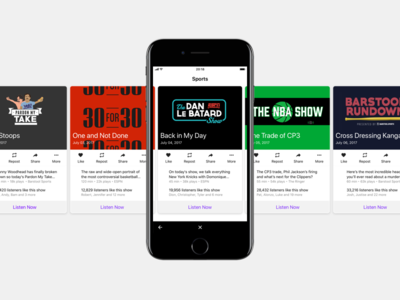 Podcast App ux apple mobile ios ui iphone sports podcast app
