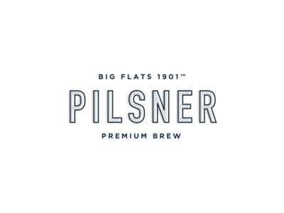 Big Flats typography print minimal logo branding beer