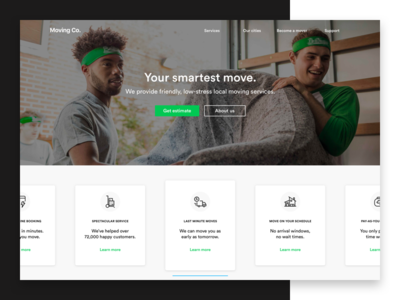Your smartest move ux website ui redesign moving minimal