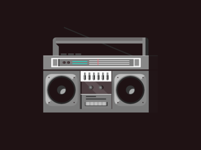 Boombox icons minimal illustration radio boombox