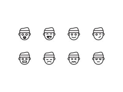 Mover Emoji app faces ui glyphs icons minimal illustration moving emoji