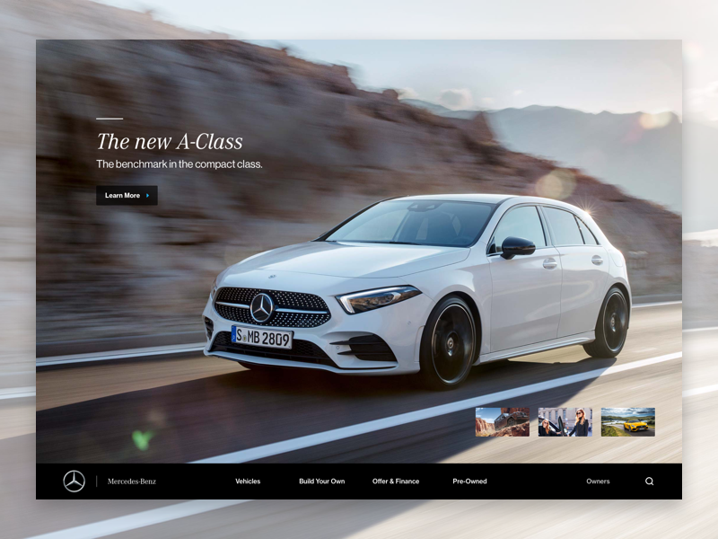 Mercedes-Benz Redesign product ui mercedes car minimal redesign website ux responsive