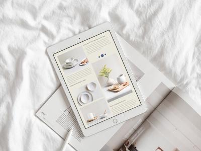 Ceramica Page minimalist website minimalist design web design mock-up web design mobile web design web page