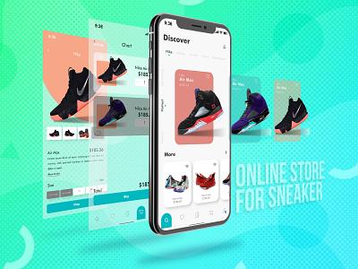 UIDAILY | SNEAKER STORE APP adobe xd design simple design ux design uidaily adobephotoshop uidesigner uidesign ui dashboard ui