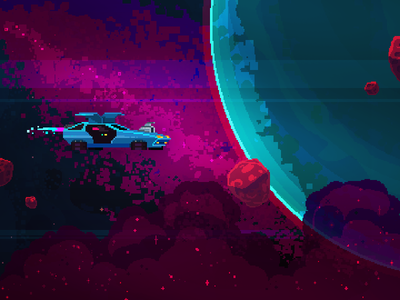 Black Paradox sci-fi shoot em up game art video game pixel art space nostalgia 80s synthwave retrowave