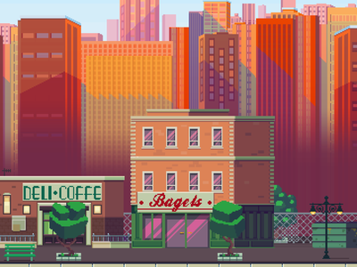 NYC pixel artist cityscape newyorkcity 8bits 8bit indiedev indiegame nyc ny newyork new york videogame illustration video game pixelart pixel 80s retro pixel art game art