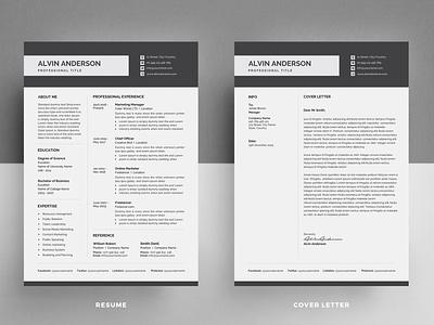 Resume Template / CV docx word minimal black cv design editable resume professional resume creative resume infographic resume modern resume female resume diy resume word resume printable resume resume template photoshop resume curriculum vitae cv design elegant resume clean resume
