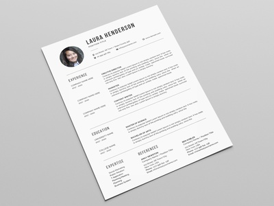 Resume Template / CV doc resume docx word minimal black cv design editable resume professional resume creative resume infographic resume modern resume female resume word resume printable resume resume template photoshop resume curriculum vitae cv design elegant resume clean resume