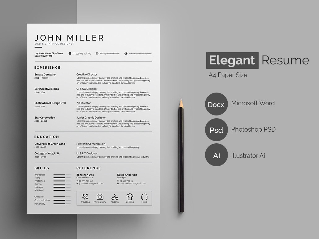 Resume Cv By Designsbird On Dribbble