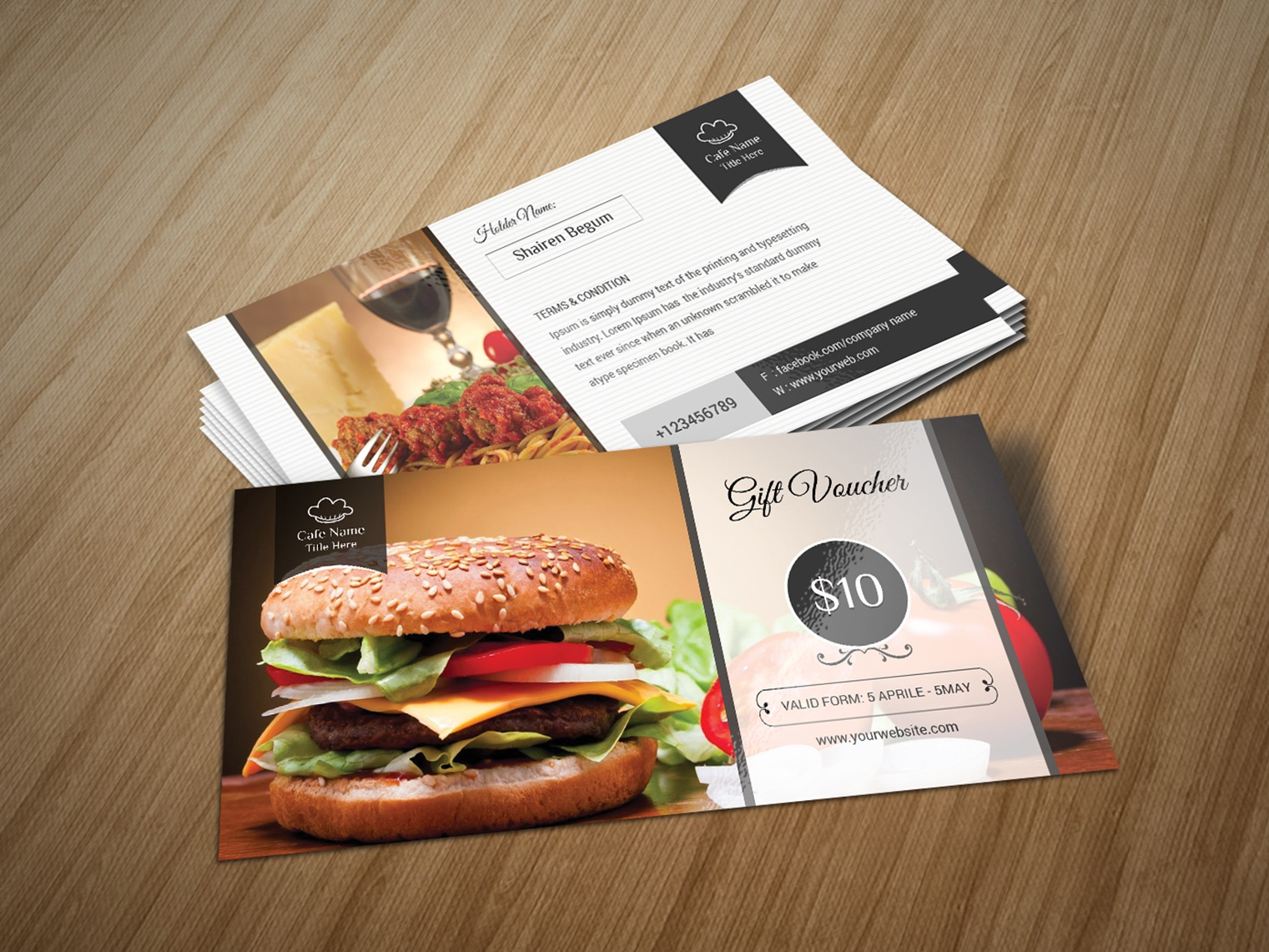 Food Gift Voucher by designsbird on Dribbble