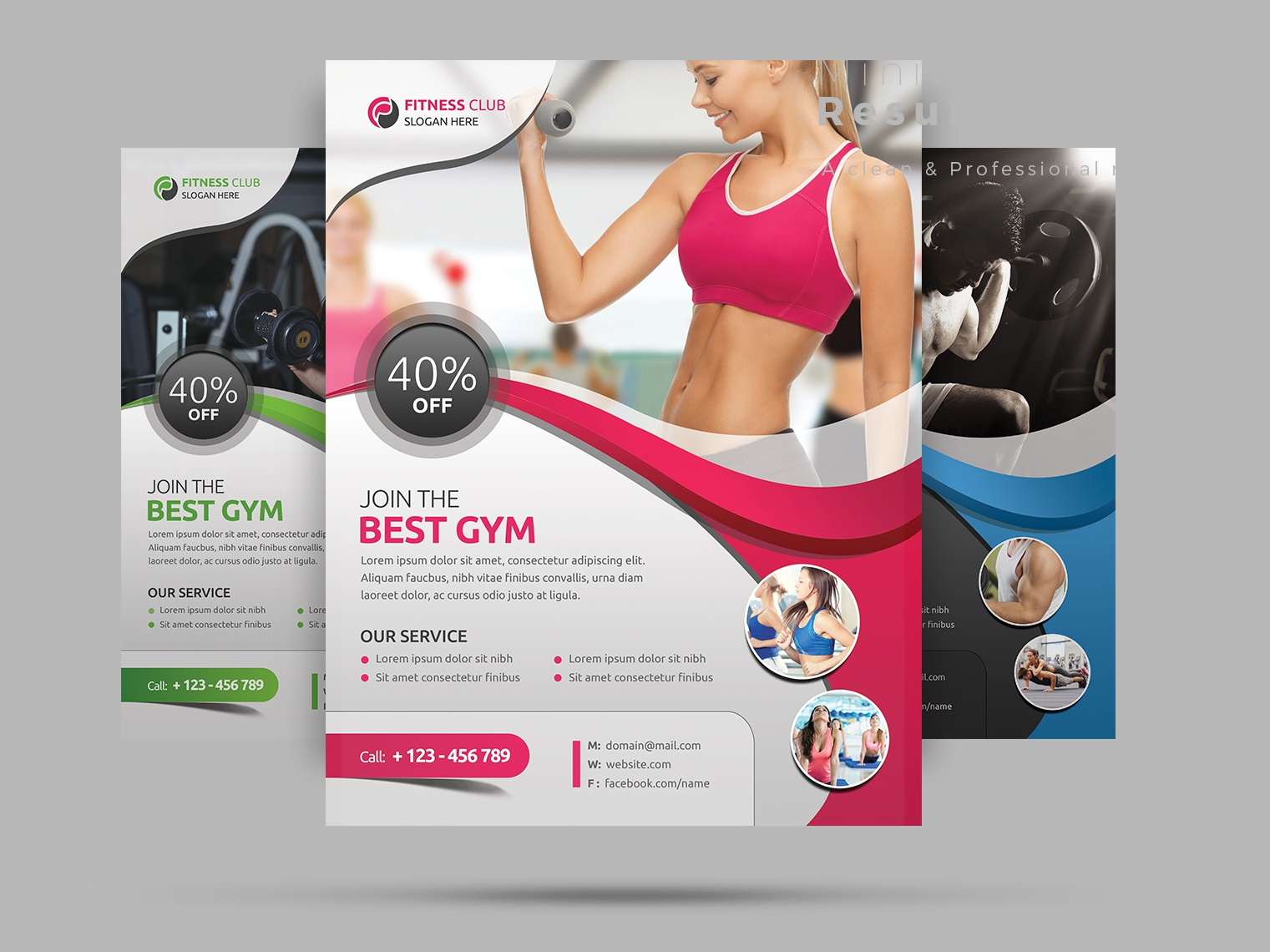 Fitness Flyer multipurpose modern health gymnasium gym generic fresh fitness flyer fitness exercise creative corporate commercial clean flyer clean business beauty aerobics a4 flyer a4