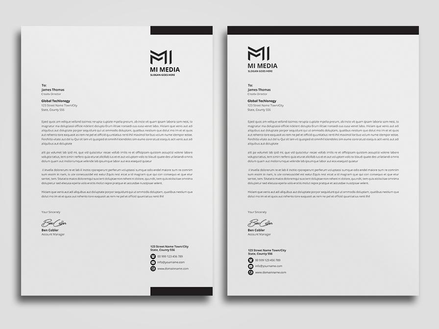 Letterhead mockup minimalist logo letterhead ipad folder envelope elegant docx design creative corporate identity corporate colorful clean business letterhead business branding brand a4