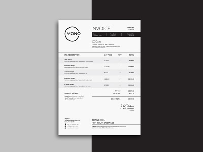 Invoice Template Excel Designs Themes Templates And Downloadable Graphic Elements On Dribbble