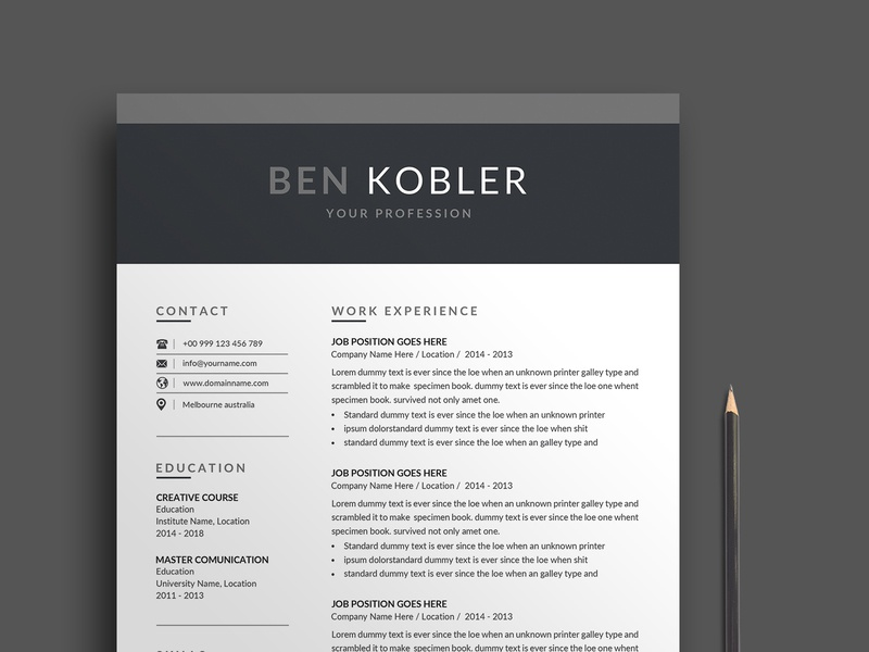 Resume/CV resume cv resume clean resume professional modern resume modern minimalist letter feminine female resume elegant resume elegant design cv clean best resume a4 3 page 2 page 1 page
