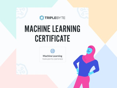 Triplebyte Certificate for software engineers machine learning certificate vector branding hiring recruiting candidate 2d design graphic design software engineer illustration