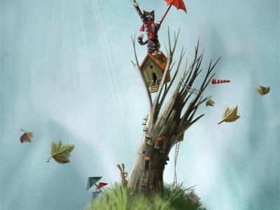 Tree cat book children illustration epic
