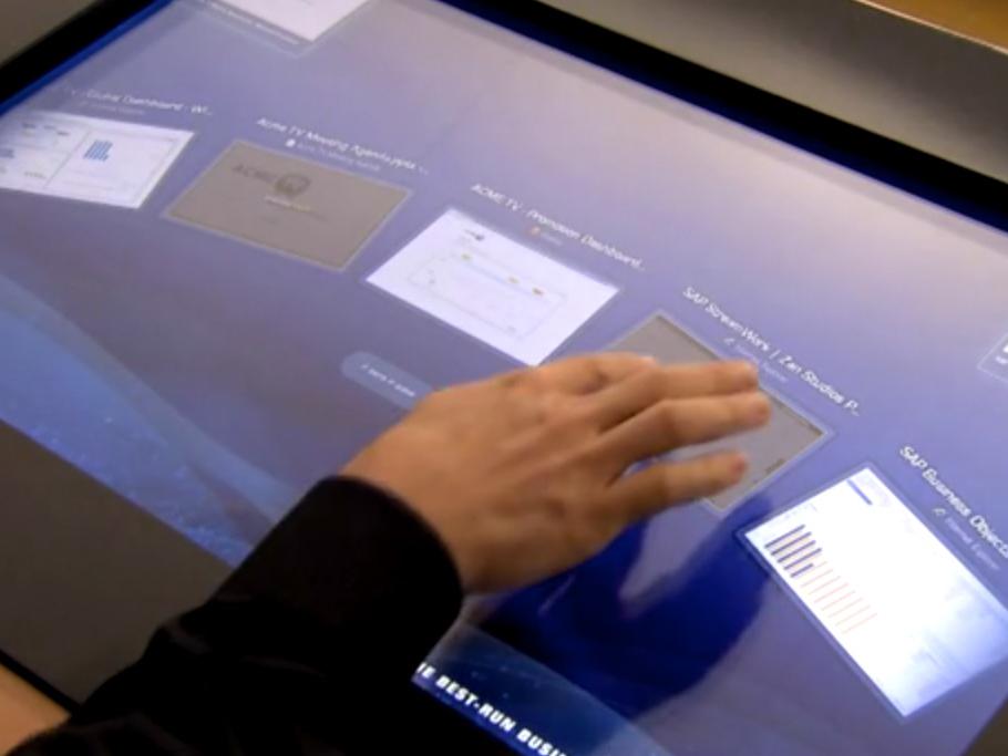 SAP Tradeshow Demo App touch screen sapphire sap ui design app animation