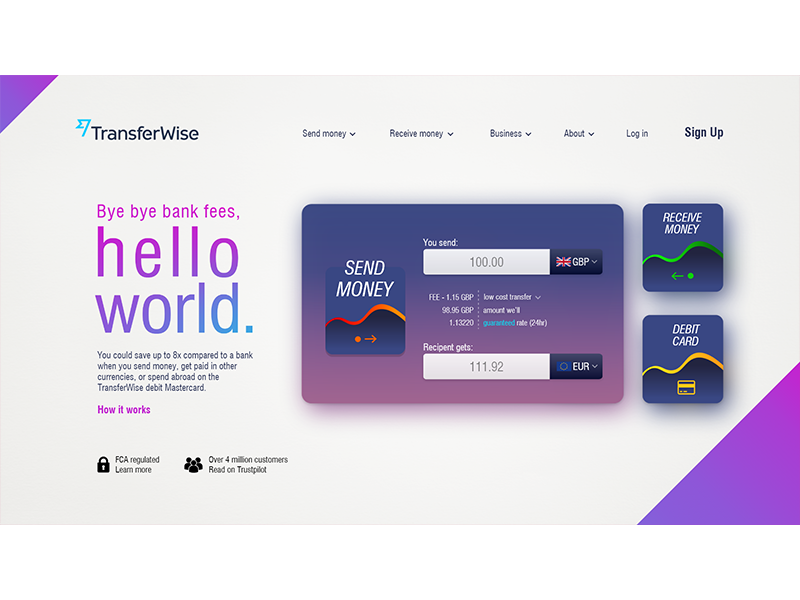 TransferWise-Concept-2 by Damian | Dribbble | Dribbble
