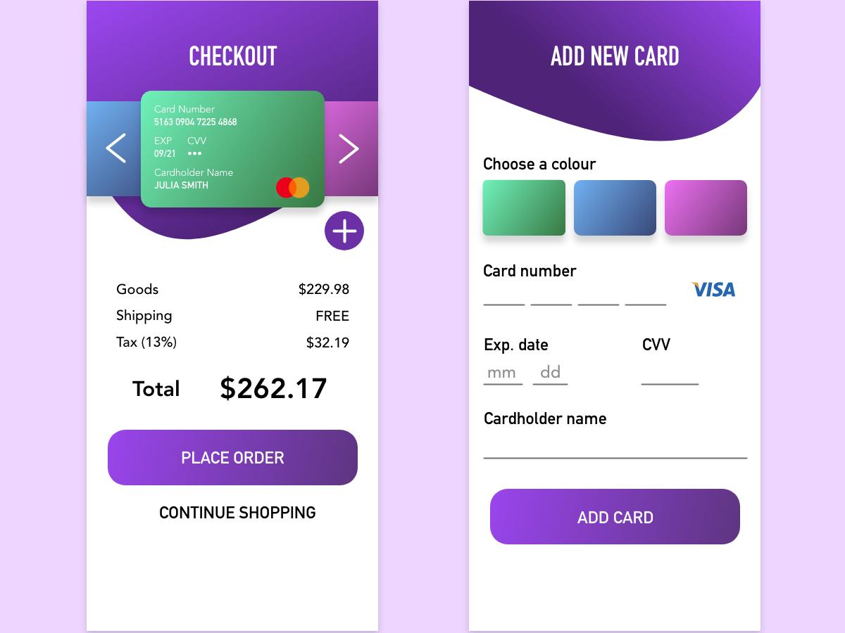 Daily UI - Day 2: Credit Card mastercard visa payment payment form checkout credit card checkout credit card daily ui dailyui
