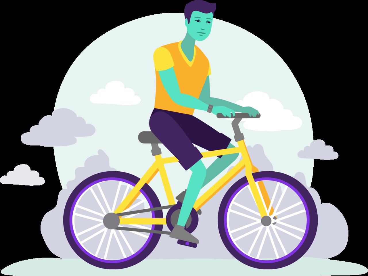Launching Cyclist Insurance app design granadilla illustration