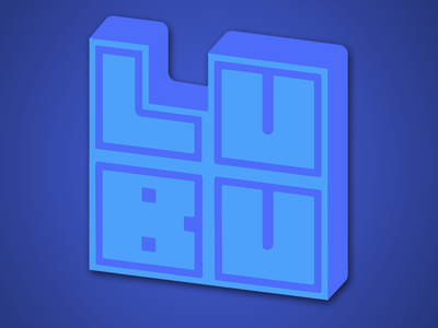 LUBU vector logo design branding