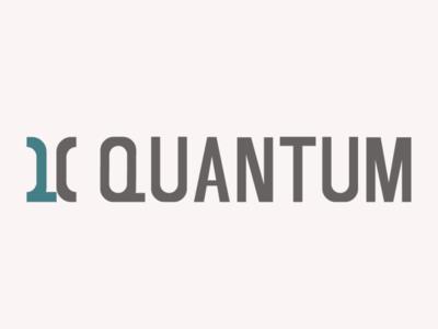 Quantum minimal flat vector logo design branding