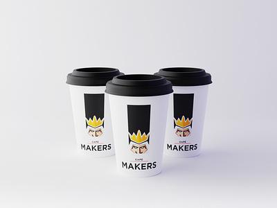 The Café Makers blender graphic design mokeup 3d coffee portfolio logo branding photoshop design