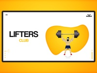 Lifters Club | UI design | Illustrator site design