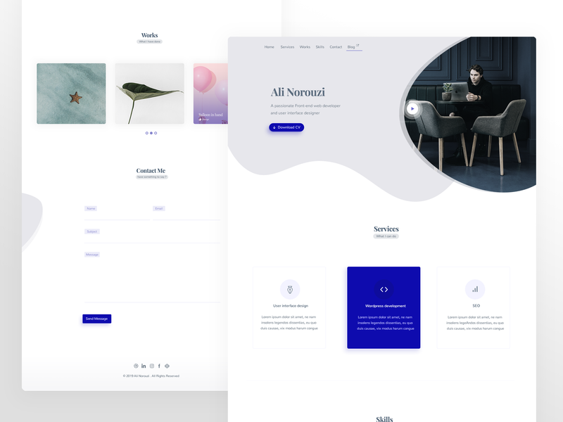 Portfolio Template Designs Themes Templates And Downloadable Graphic Elements On Dribbble