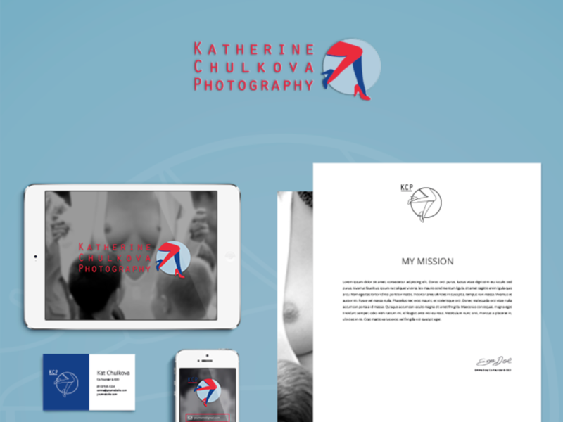 Katherine Chulkova / Photograph / Logo / Identity / 2013 minimal vector identity logo branding vomarba design abramov fabrica ukraine