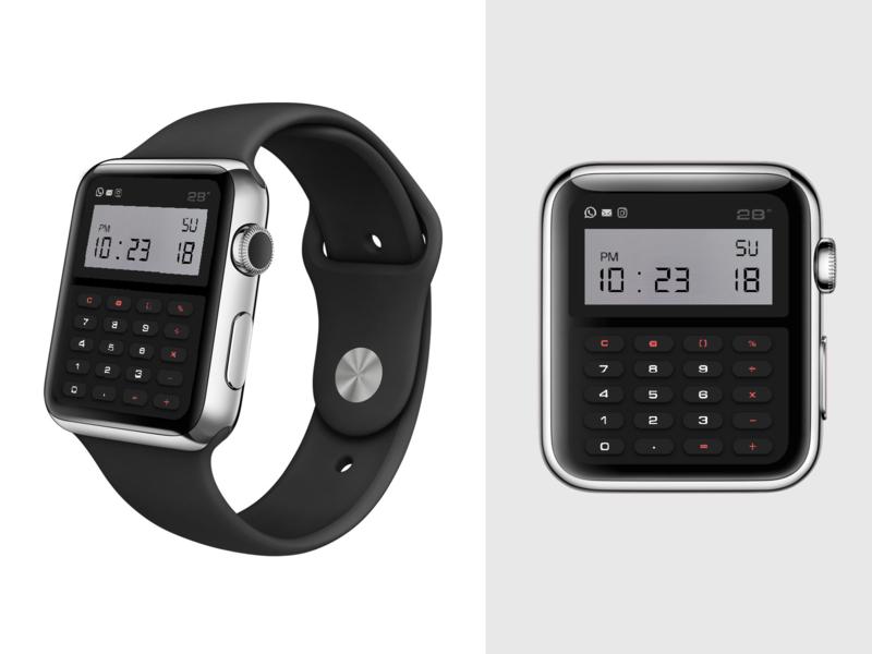 Casio Inspired Calculator Watchface watch face apple watch user interface ui uidesign dailyui 004 dailyui